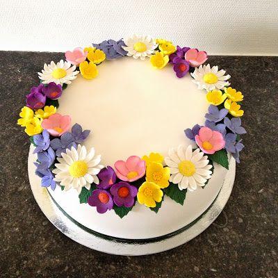 Summer birthday cake - Sockersöta Ninni  My cakes  Pinterest