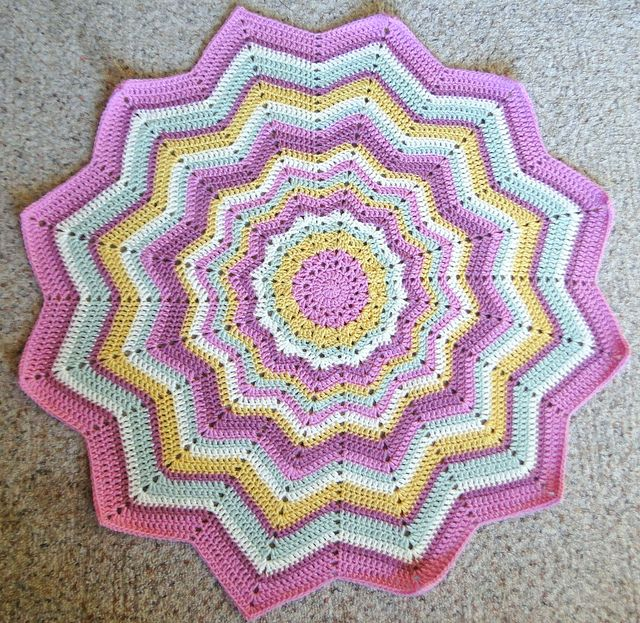 Crochet Patterns For Round Baby Blankets Dancox For