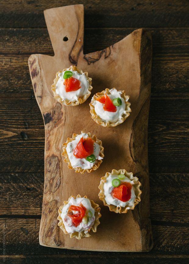 Smoked Salmon Phyllo Bites with Wasabi Goat Cheese | http://pinterest ...