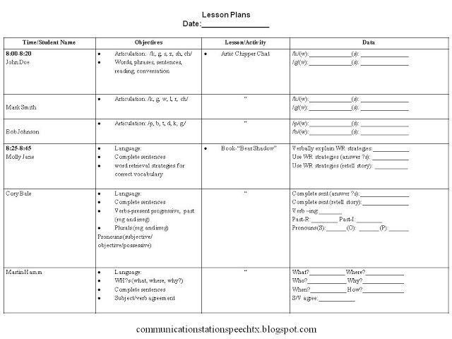 school age lesson plan template - clinical methods csd482 locke livebinder