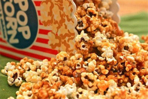 Spicy Cheese-Caramel Popcorn | Recipe