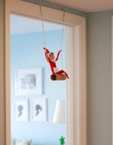 Elf on the Shelf ideas . . . a must do for tomorrow night's mischief! So cute