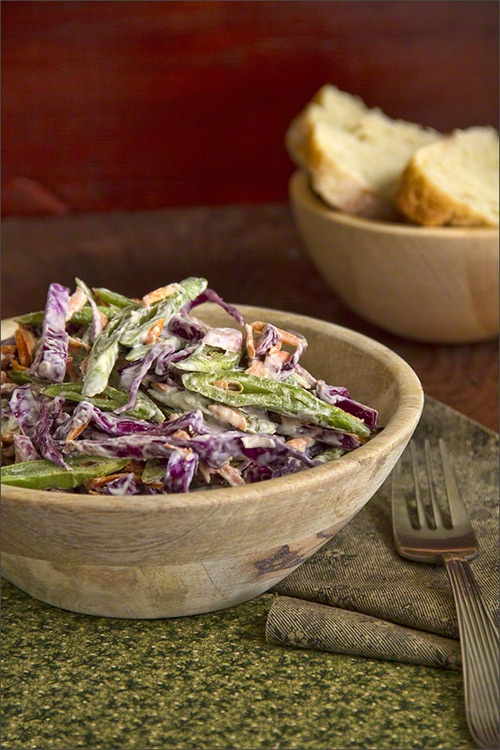 Green Bean Coleslaw from @wine_scribbler / spittoon