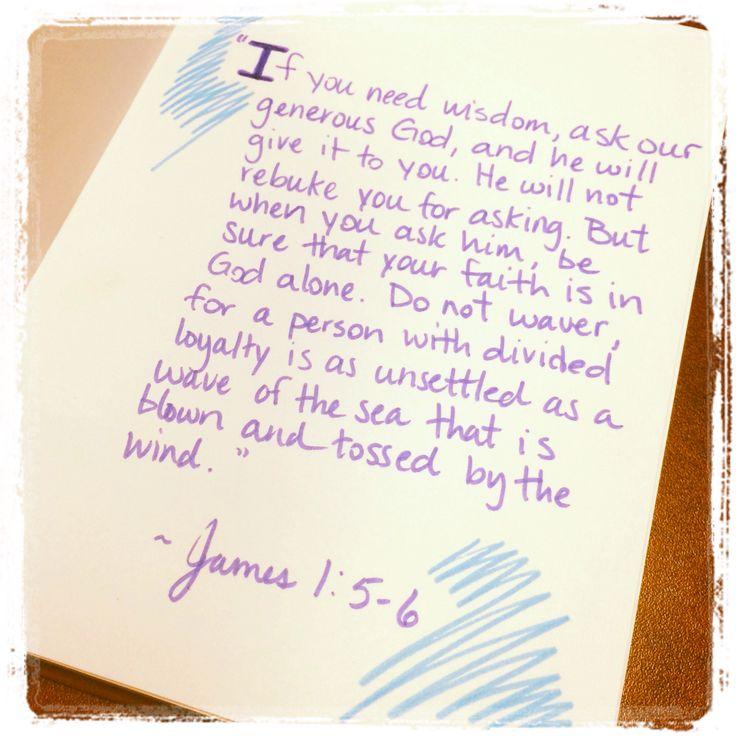 James 1:5-6 | Quotes Worth Reading | Pinterest