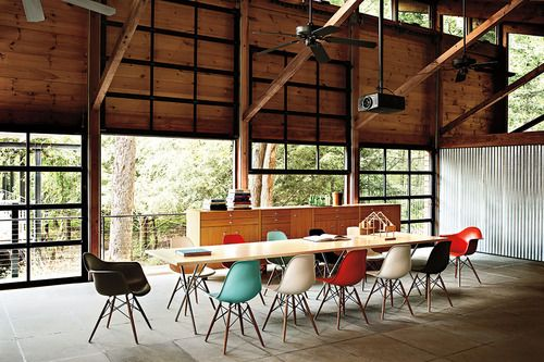 Industrial space with Eames chairs  #Eames