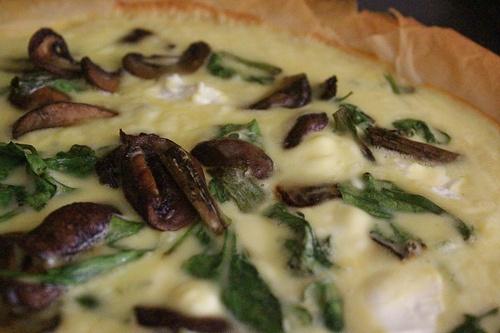 Mushroom and Spinach Tart - yumm | Food | Pinterest