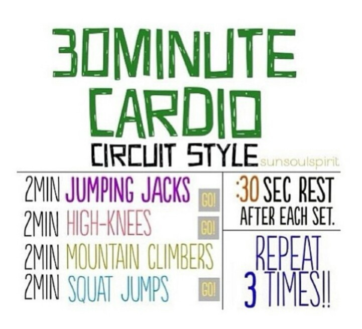 Home cardio work out in progress pinterest