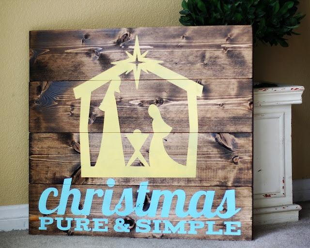 eighteen25: christmas pure + simple nativity
