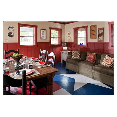 Red White And Blue Americana Dining Room Pinterest