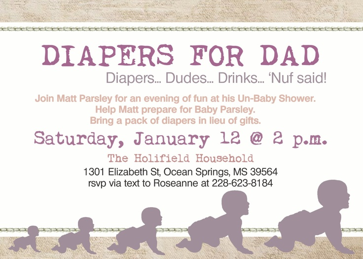 daddy diaper baby girl shower dad shower invitation via