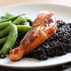 Honey-teriyaki Salmon | (Surf n Turf) | Pinterest