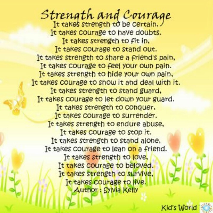 Word Strength Words of Strength And Courage