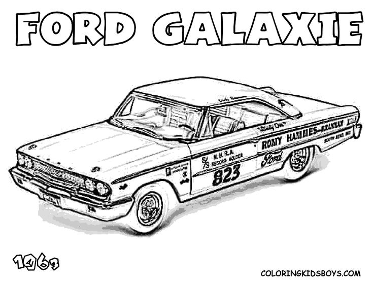 Hot Rod And Muscle Car Coloring Pages