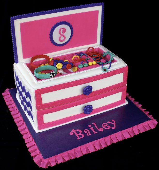 Jewelry Box Cake Cake Decorating ideas Pinterest