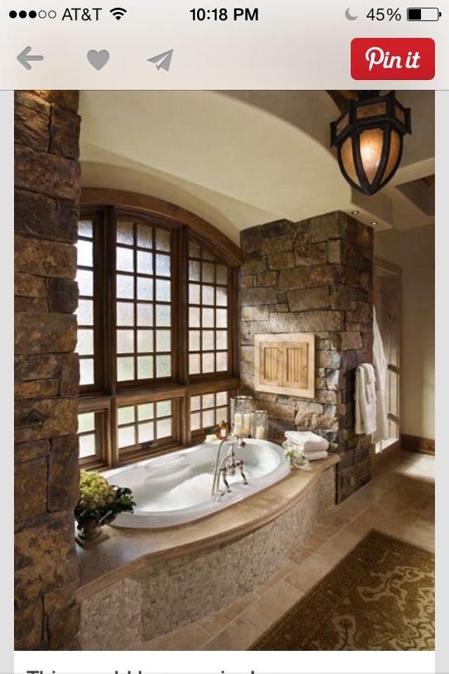 Tuscan bathroom old world master bathroom ideas for Tuscan master bathroom ideas