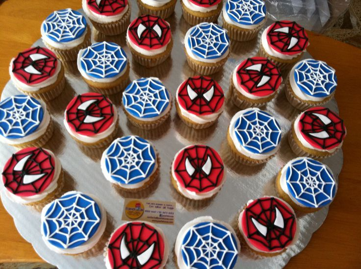 Spiderman cupcakes Lo ?ltimo!! Pinterest