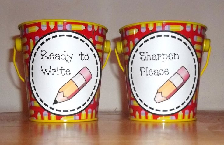 Printable signs for pencil buckets