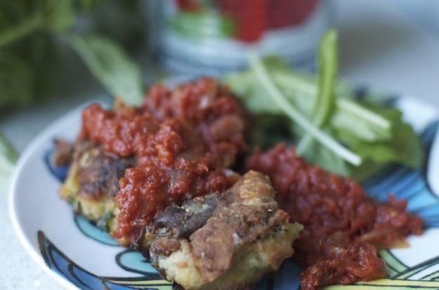 ... up garden eggplant (& a lighter alternative to eggplant parmigiana