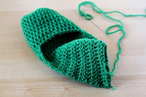 Crochet Easy Slipper Pattern : Easy slipper pattern crochet Pinterest