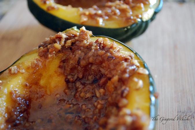 Orange Pecan Acorn Squash | Not just veggies anymore | Pinterest