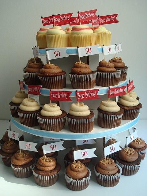 Cupcake Decorating Ideas For Guys : 50th birthday cupcakes 50th Birthday Party ideas Pinterest
