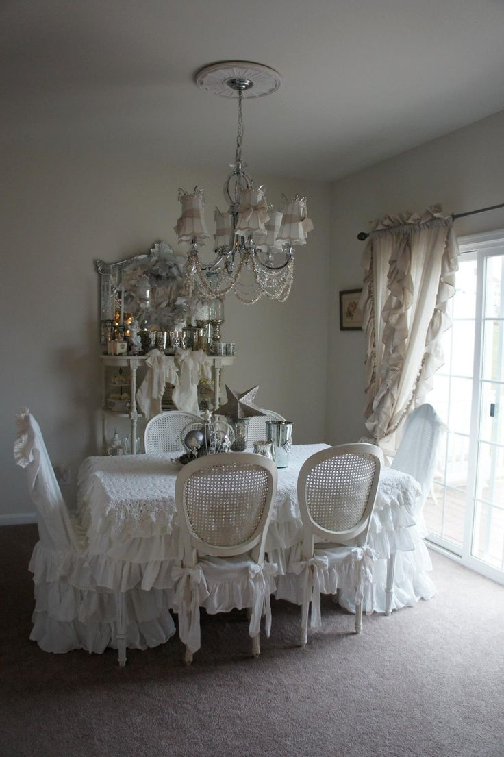Shabby chic dining room french country decorating pinterest - Shabby chic dining rooms ...