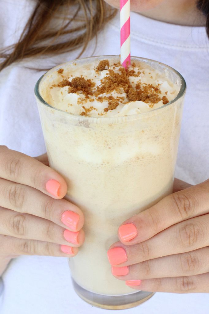 We gave a vanilla milkshake a makeover with Biscoff spread # ...