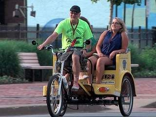 'Rickshaw Willie' spreading Akron's good news one block at a time with pedicab