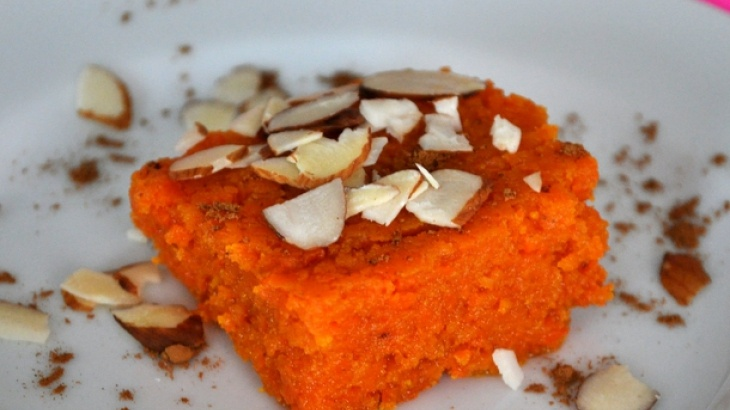 Indian-style Spiced Carrot Bars (Gajar Ka Halwa)