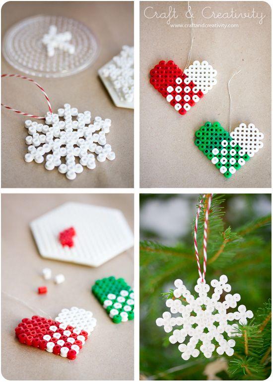 Hama beads ornaments.