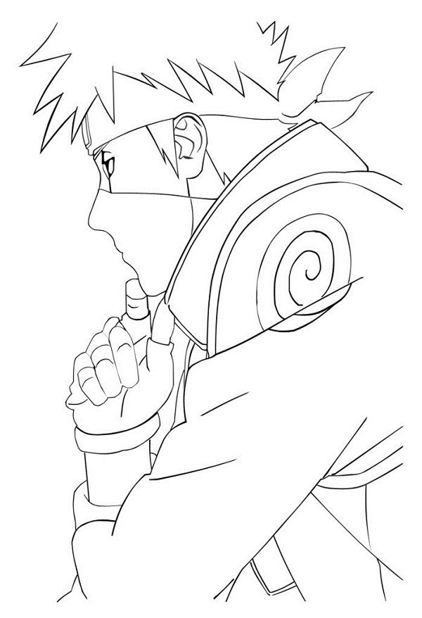 Kakashi coloring pages for Kakashi coloring pages
