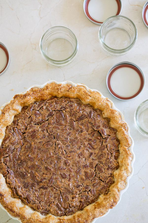 The Best Brown Butter Rum Pecan Pie Recipe Ever! Serve in mini jars!