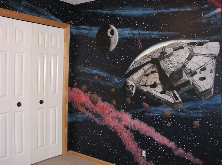 Star wars wall mural ideas for tabitha pinterest for Mural star wars