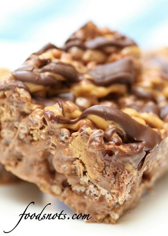 Reeses Chocolate Peanut Butter Rice Krispie Treats by brandy