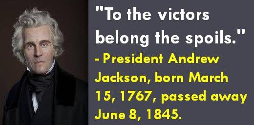 spoil system andrew jackson essay How democratic was andrew jackson essays how democratic was andrew jackson another example of jackson's democratic beliefs would be the spoils system.