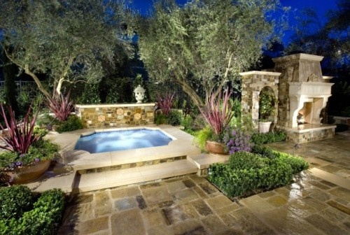 Backyard Landscaping Hot Tub : Hot tub backyard ideas
