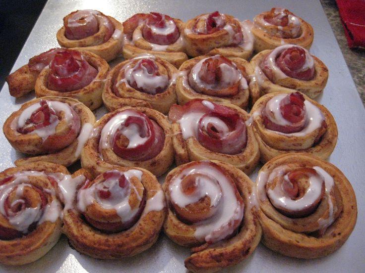 bacon cinnamon rolls | Favorite Recipes | Pinterest