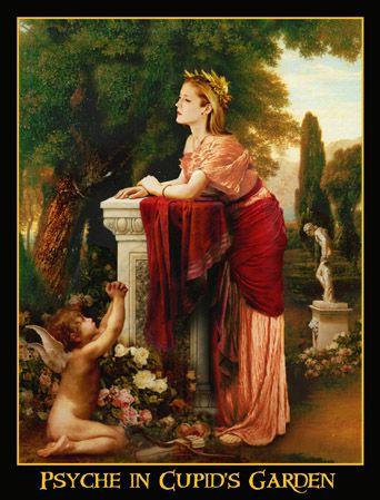 psyche in the cupids garden women in art pinterest