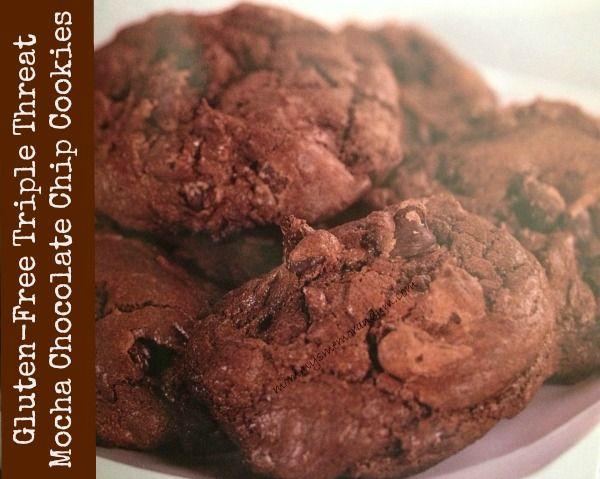 Gluten-Free Triple Threat Mocha Chocolate Chip Cookies #Recipe What!?