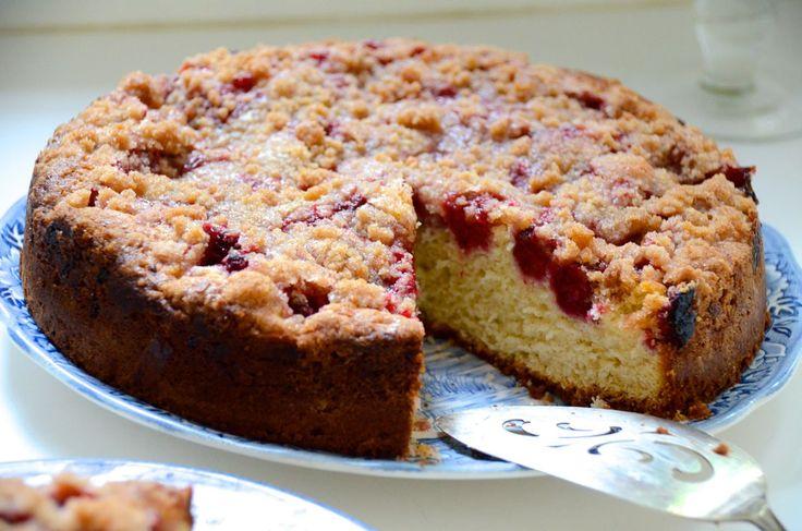 Raspberry-Rose Crumb Cake | Baking Bliss | Pinterest