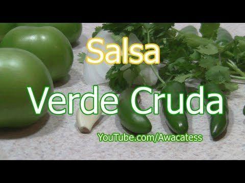 Salsa Verde Cruda | Comida Mexicana e Internacional | Pinterest