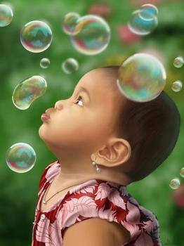 Why do kids love bubbles?