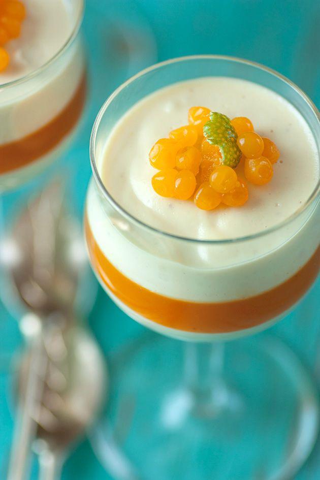 Berry-Chevre Cheesecake Parfait Shots Recipe — Dishmaps
