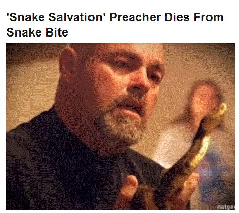 pentecostal snake handlers