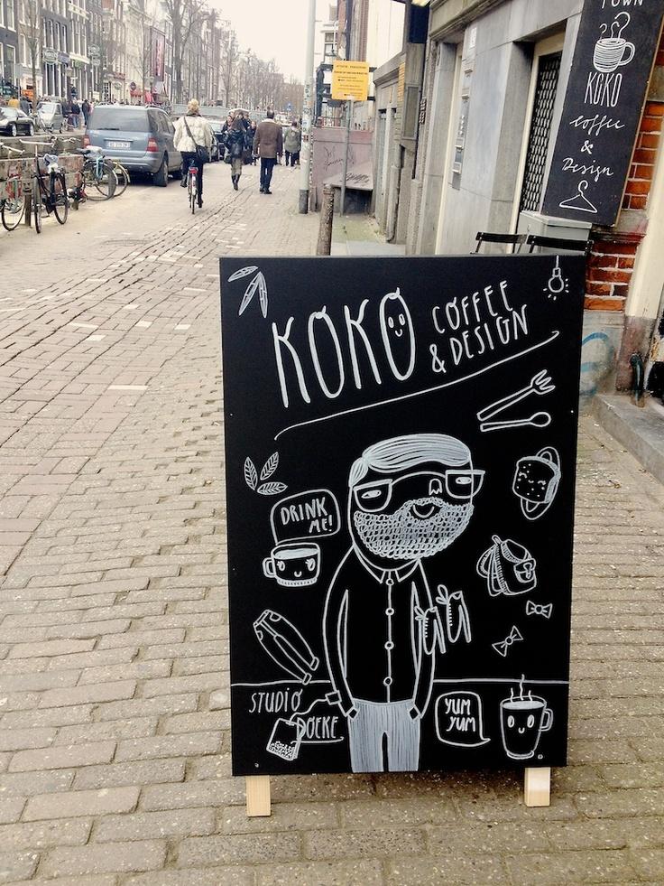 koko coffee sign board  Illustrations + Prints  Pinterest