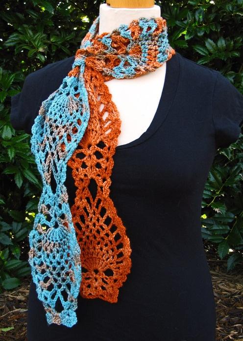 Elizabeth Nicole Designs--Jennifer Benson--Pi?a Colada Scarf (Crochet ...
