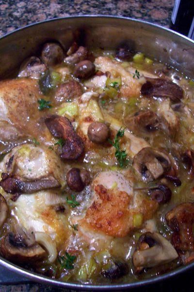 Braised chicken with Porcini Mushrooms | Food | Pinterest