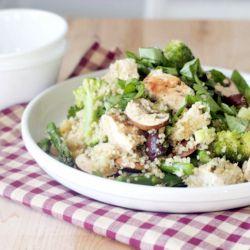Basil Lemon Chicken, Quinoa Salad - adapted from Ellie Krieger's ...