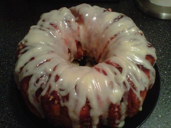 ... Cheese | Cakes / Sticky Bun Breakfast Ring With Cream Cheese Icing