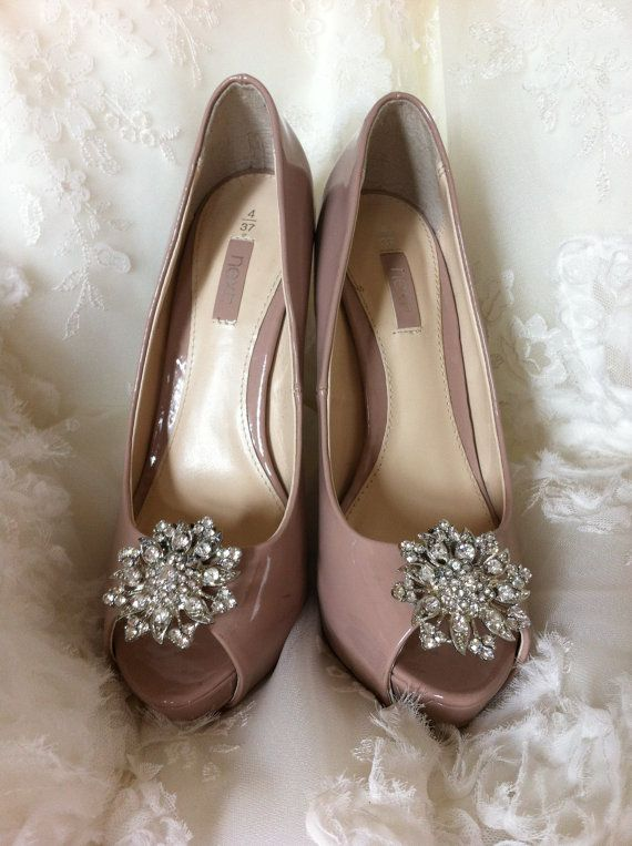 Handcrafted bridal shoe clips on Etsy. I could always get regular